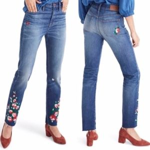 Madewell | Embroidered Floral The Slim Boyjean